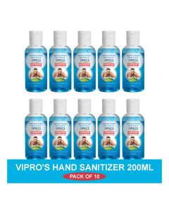 Vipro's Hand Rub (Sanitizer) Advanced 200 ml (Pack of 10)