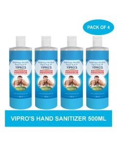 Vipro's Hand Rub (Sanitizer) Advanced 500 ml (Pack of 4)
