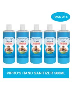 Vipro's Hand Rub (Sanitizer) Advanced 500 ml (Pack of 5)