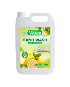 Varaa Anti-Microbial Hand Wash - Total Germ Protection with Neem & Lemon (1 Ltr)