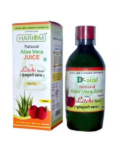 Hariom Aloe Vera Juice with Litchi Flavour 500ml