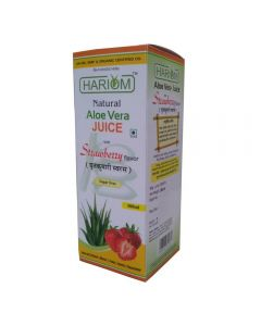 Hariom Aloe Vera Juice with Strawberry Flavour 500ml