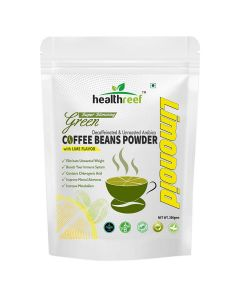 Healthreef Limonoid Natural Green Coffee Beans Powder with Lime Flavour 200 gms, Pack of 1