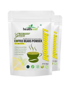 Healthreef Limonoid Natural Green Coffee Beans Powder with Lime Flavour 200 gms