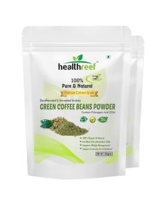 Organivo Natural Green Coffee Beans Powder 200 gms, Pack of 1