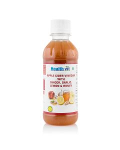 Healthvit Apple Cider Vinegar With Ginger,Garlic,Lemon  & Honey 250ml