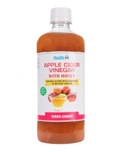 Healthvit Apple Cider With Honey Natural & Pure With Goodness Of Mother Vinegar 500ml