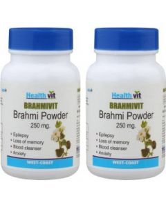 HealthVit BRAMHIVIT Bramhi powder 250 mg 60 Capsules (Pack Of 2)
