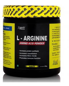 Healthvit Fitness L-Arginine Pre-workout 200gm Powder, Unflavoured