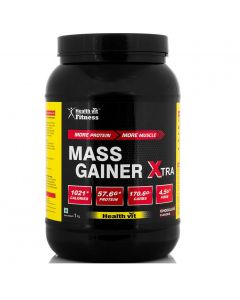 Healthvit Fitness Mass Gainer Xtra Chocolate Flavour 1kg / 2.2 lbs