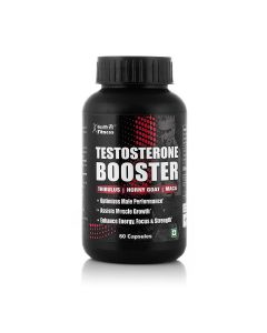 Healthvit Fitness Testosterone Booster Supplement, Boost Men Muscle Growth & Energy | 90 Capsules.