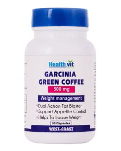 Healthvit Garcinia Cambogia + Green Coffee 500mg Extract 60 Capsules