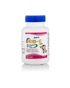 HealthVit KID-C  Kid's Vitamin-C Chewable 60 Tablets (Pack Of 2)