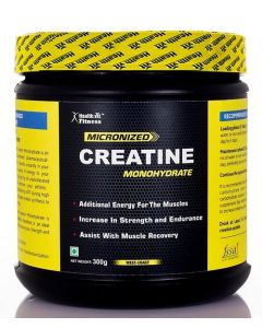 Healthvit Fitness Micronized Creatine Powder - 300 g (Unflavored)