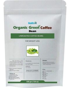 HealthVit Organic Decaffeinated Green Coffee Beans - 400 g