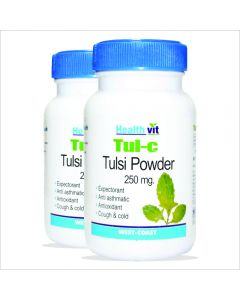 HealthVit TUL-C Tulsi powder 250 mg 60 Capsules (Pack Of 2)