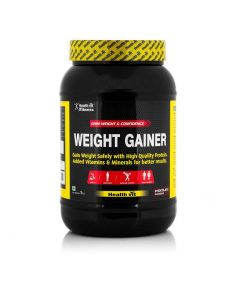 Healthvit Fitness Weight Gainer, Chocolate Flavour 1.0kg / 2.2 lbs