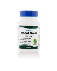 Healthvit Wheat Grass 500 mg 60 Capsules
