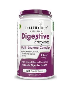HealthyHey Nutrition Digestive Enzyme - Multi-Enzyme Complex - 75mg - Support Digestive Health - 120 Vegetable Capsules