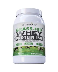 HealthyHey Nutrition Grass-Fed Whey Protein Isolate - 1kg (Unflavoured)