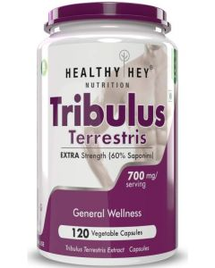 HealthyHey Nutrition Tribulus Terrestris - 120 Count 60% Saponins - Highest Purity On The Market - 700mg Maximum Strength