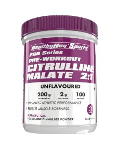 HealthyHey Sports Citrulline Malate 2:1 - 200 Grams  100 Servings (Unflavoured, 200gm)