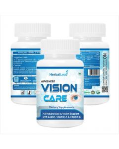 HerbalLeaf Advanced Vision Care | Natural Eye & Vision Support | Combination of Lutein, Vitamin A, Vitamin E, Vitamin B2, Zinc & Copper | 60 Tablets