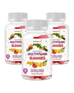 HerbalLeaf Complete MultiVitamin for Kids & Adults Supports Healthy Growth & Development - 30 Gummies