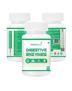 HerbalLeaf Digestive Enzymes | New Formula Now with Resveratrol | Aloe | Senna | 18 All Natural Ultra Enzymes | Supports Healthy Digestion | 90 Tablets | 45 Days Supply