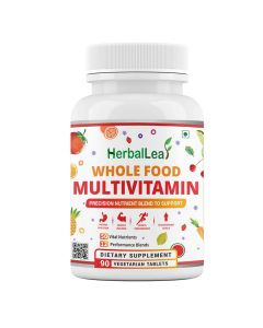 HerbalLeaf Sports Multivitamin for Men & Women with 50 Vital Nutrients and 12 Performance Blends Consisting| Thoughtfully formulated Whole Food Based Multivitamin | 90 Tablets