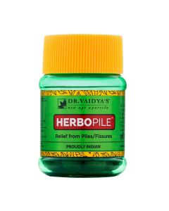 Dr. Vaidya's Herbopile Pills -Ayurvedic Relief from Piles & Fissures - Pack of 2