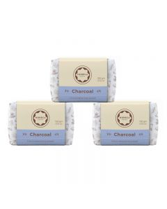 Horeca Soaps Combo of 3 charcoal Cold Process Soap (coconut shell based charcoal and lime peel oil) 300 gm