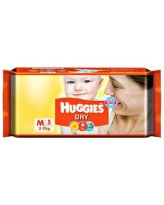 Huggies Dry Taped Diapers Medium Size 5Pieces