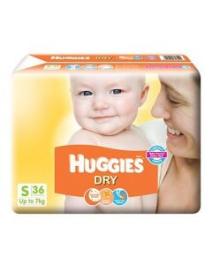 Huggies Dry Taped Diapers Small 36Pieces