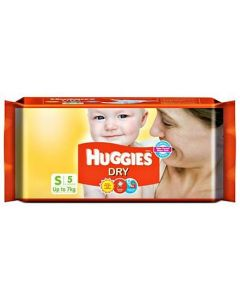 Huggies Dry Taped Diapers Small Size 5Pieces