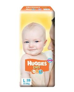 Huggies New Dry Taped Diapers Large 28Pieces