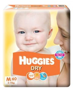 Huggies New Dry Taped Diapers Medium 60Pieces