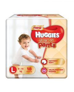 Huggies Ultra Soft Pants Large Size Premium Diapers 18Pieces