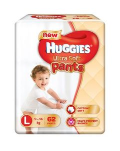 Huggies Ultra Soft Pants Large Size Premium Diapers 62Pieces