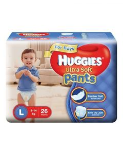 Huggies Ultra Soft Pants Large Size Premium Diapers For Boys 26Pieces