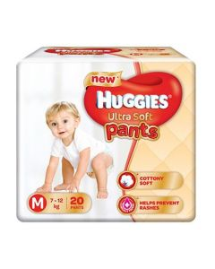 Huggies Ultra Soft Pants Medium Size Premium Diapers 20Pieces