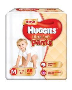 Huggies Ultra Soft Pants Medium Size Premium Diapers 68Pieces