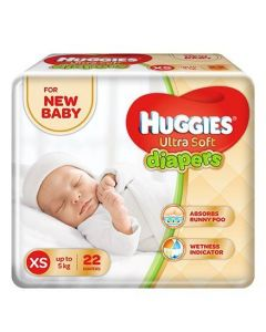 Huggies Ultra Soft Premium Diapers For New Baby 22Pieces