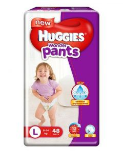 Huggies Wonder Pants Large Size Pant Style Diapers 48Pieces