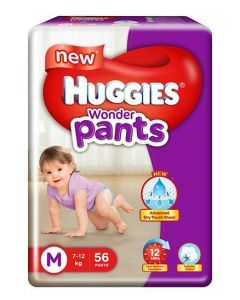 Huggies Wonder Pants Medium Size Pant Style Diapers 56Pieces