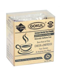 Gokul Instant Herbal Tea Premix Masala Chai - Regular Sugar (Pack Of 3) (5 Sachets Each Pack)