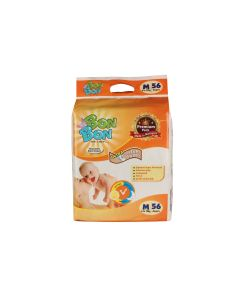 Bon Bon Disposable Baby Diapers Medium Size (56 Count) - M  (56 Pieces)