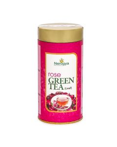 Nerogya Naturals Rose Green Tea (Leaf) - 100G