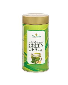 Nerogya Naturals Tulsi Ginger Green Tea (Leaf) - 100g