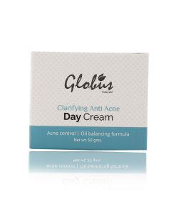 Globus Naturals Clarifying Anti Acne Day Cream | Acne Control |Oil Balancing Formula |100% Natural | Paraben Free | SLS Free | Net Wt. 50gms